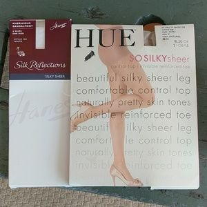 HUE SILKY SHEER PANTYHOSE/KNEEHIGHS